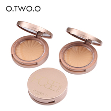 O.TWO.O Brand Face Makeup Rose gold powder cake lasting oil control bottom makeup dry and wet base 8 color