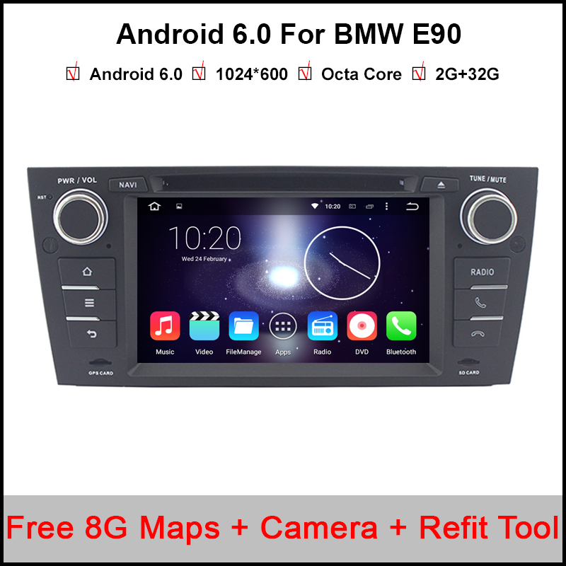 7 inch Android 6.0.1 Octa Core 1Din Car DVD Player for BMW E90 /E91 /E92 /E92 HD Stereo Audio Radio support DAB+GPS Navigation