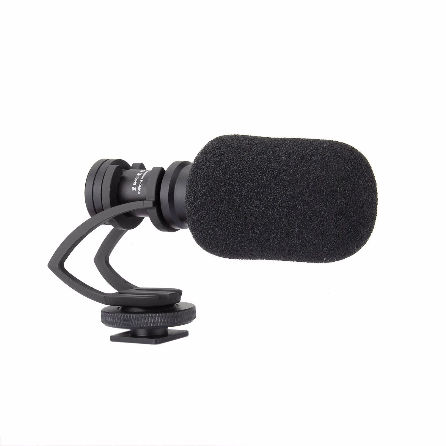 COMICA Video Microphone Mic With Adapter Q Ring Mount for Zhiyun Smooth Q