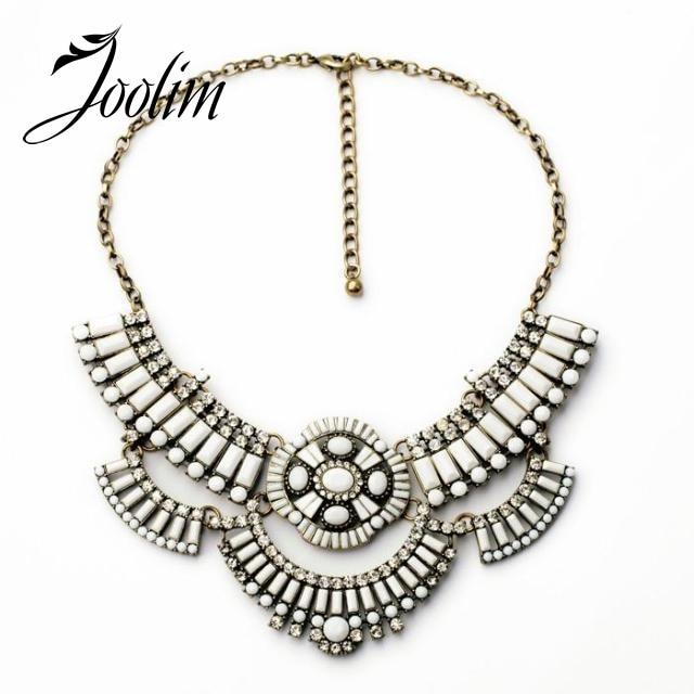 Joolim Jewelry Wholesale White Flower Statement Necklace Women