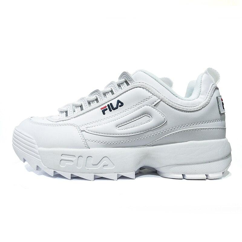 2018 FILAS משבש השני 2 גברים ונשים Sneaker נעלי ריצה לבן קיץ מוגבר חיצוני Sneaker גודל 36-44