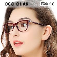 061f487e63 OCCI CHIARI Gafas de mujer marco óptico de gafas marco material del ácido  acético de la vendimia 2018 Las lentes transparentes s.