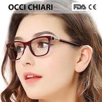 OCCI CHIARI Vintage montura de gafas de miopía mujeres Anti Blue Ray ordenador gafas diamante primavera bisagra marco óptico gafas