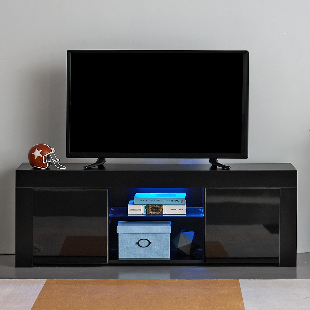 Panana 135cm Modern TV Unit Cabinet Stand Sideboard Cupboard Meuble Tv With RGB LED Light For Livingroom Bedroom Muebles De Sala