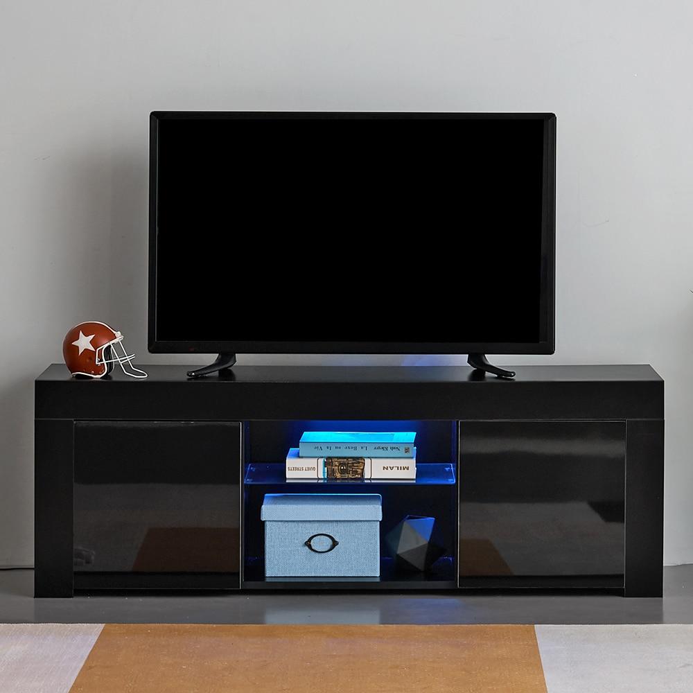 Panana 135cm Modern TV Unit Cabinet Stand Sideboard Cupboard Meuble Tv With RGB LED Light For Livingroom Bedroom Muebles De Sala
