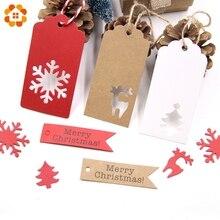 50 шт многостильные бирки из крафт-бумаги ручной работы/Спасибо поделки DIY бирки упаковочные материалы для подарков этикетки на Рождественские сувениры