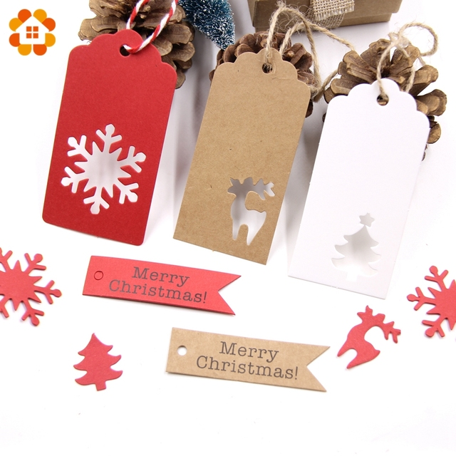 50 pcs tags for Christmas decoration and gift wraps