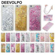 DEEVOLPO Romantic Quicksand Case For Huawei P8 Lite 2017 G9 Glitter Covers Honor 8 Beautiful Flowing Fundas DP03J