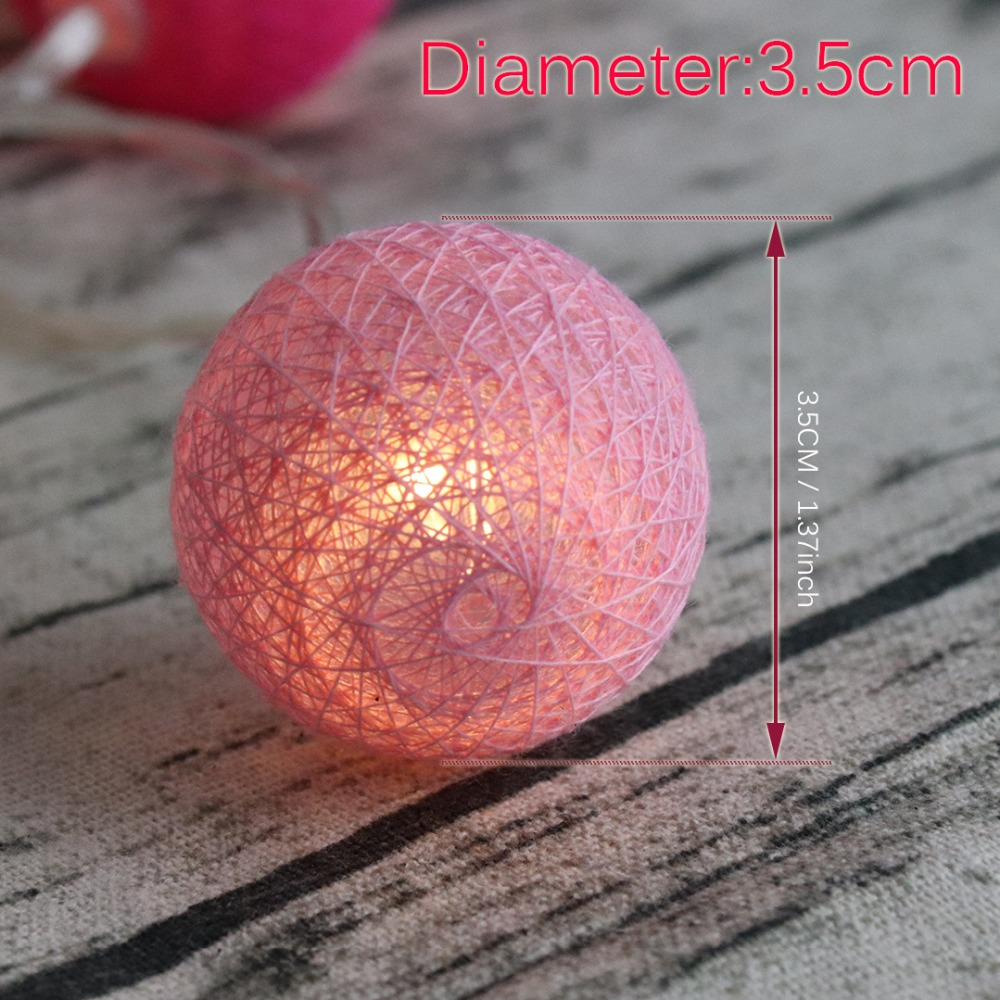 LED-lichtslingers Fairy Holiday Decoration Light 20 Leds Cotton Ball - Vakantie verlichting - Foto 3