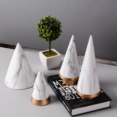 2018 Ceramic Handicrafts Marble Style Christmas Tree Ornaments