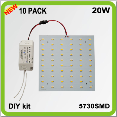 2 YEAR WARRANTY DIY 10 PACK 5730SMD 20W LED ceiling light source square LED panel 15cm techo led 2D tube 2100LM surface mounted