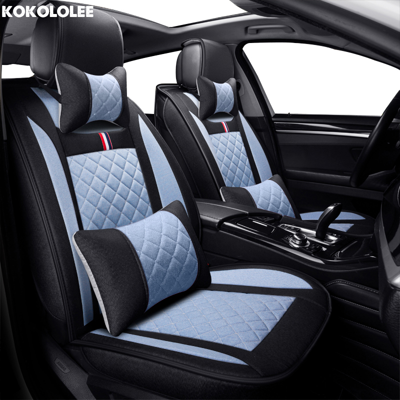KOKOLOLEE flax car seat covers For Nissan Qashqai Note Murano March Teana Tiida Almera X-trai auto accessories car sticker все цены