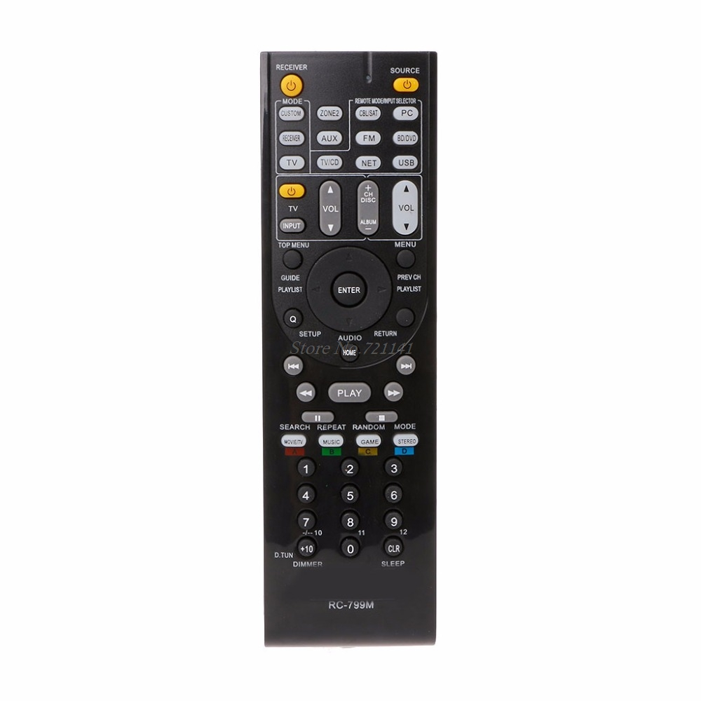 RC-799M Replaced Remote Control For Onkyo HT-R391 HT-R558 HT-R590 HT-R591 HT-S5500 Electronics Stocks