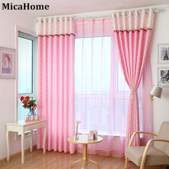 Princess Window Curtain Children Room Pink And White Curtains 2016 The New Shade Cloth Color Departments