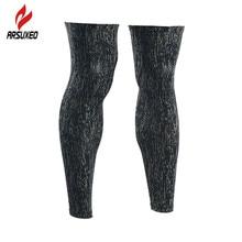 ARSUXEO Reflective Leg Warmers Cycling Bike Sleeve Compression Legs Calf  Leggings Running Football Soccer