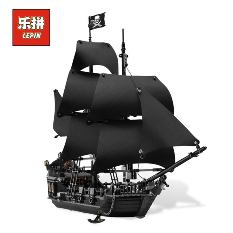 lepin 16006 804pcs building bricks Pirates of the Caribbean the Black Pearl Ship model Toys Compatible with LEGOings 4184 Toys lepin 16006 pirates of the caribbean movie the black pearl 804pcs building block toys gift for children pirates caribbean