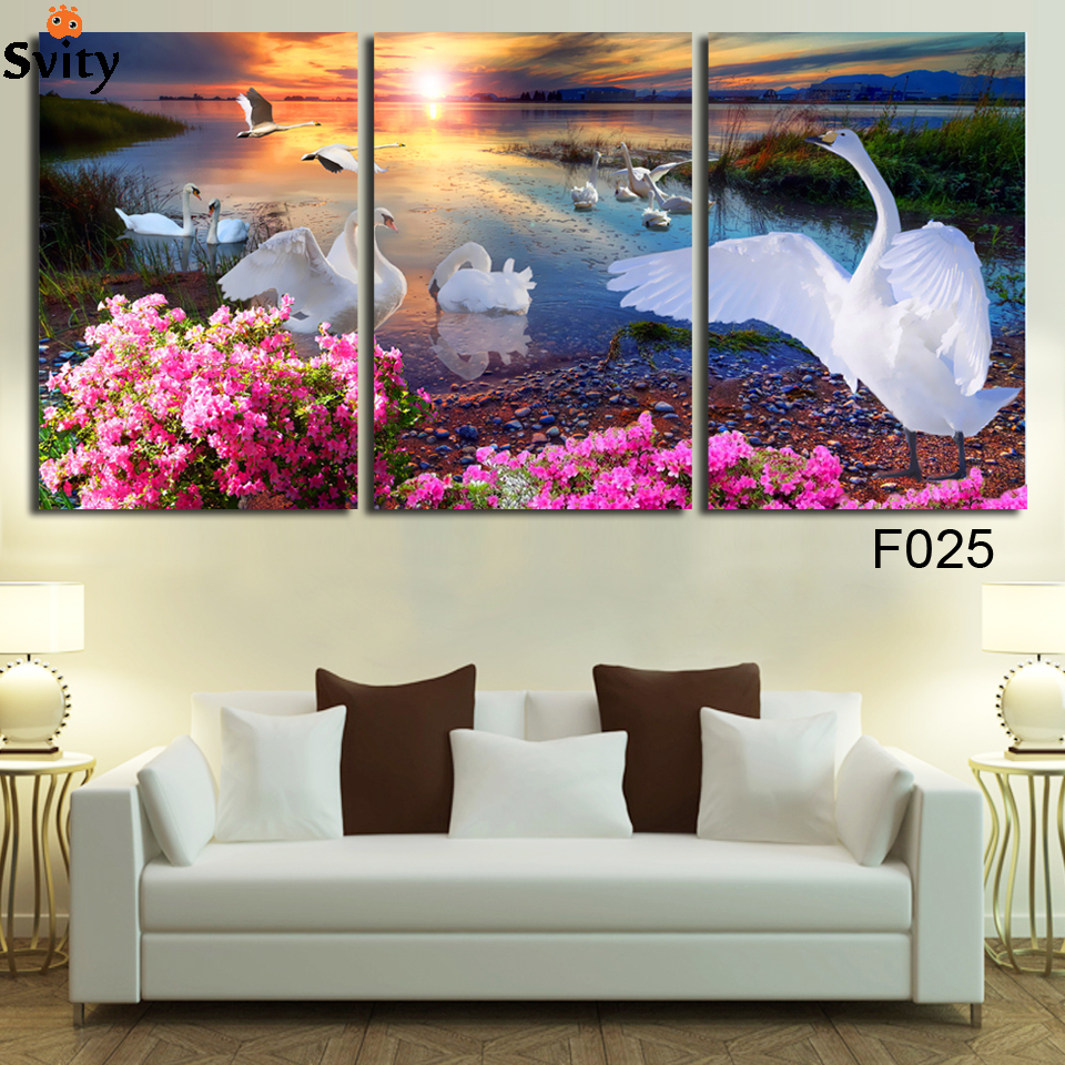 online kaufen großhandel weiße schwan bilder aus china ... - Grose Wandbilder Wohnzimmer