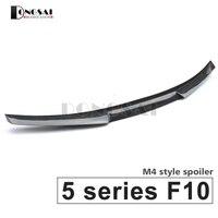 F10 carbon fiber M4 style spoiler rear trunk lip wings for BMW 5 series f10 M5 2010 2017 520i 523i 525i 528i 535i