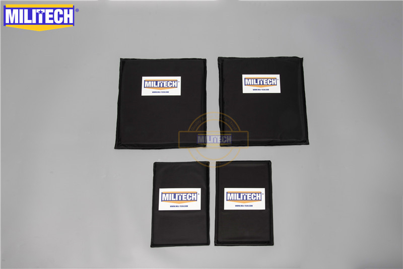 MILITECH 10 X 12 SC & 6 X 10 Pairs Aramid Ballistic Panel Bullet Proof Plate Inserts Soft Cummerbund Side Armour NIJ Lvl IIIA 3A