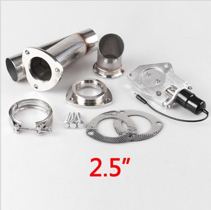 Auto modificatie universele staart keel modificatie 2.5, 3 inch aluminium elektrische controle uitlaatpijp met afstandsbediening - 2
