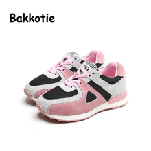 Bakkotie 2017 Spring Autumn Blue Children Boy Casual Shoes Toddler Baby Girl Sport Sneaker  Pink Kid Walking Lace-up neakers