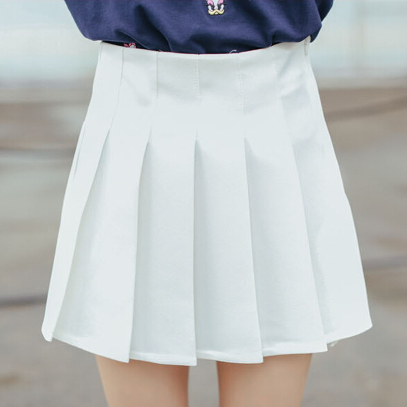 Pleated White Skirt - Dress Ala
