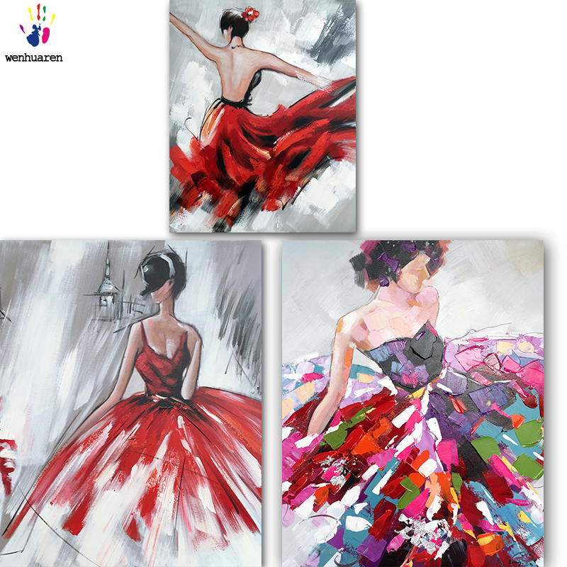 DIY colorings pictures by numbers with colors Wonderful dance picture drawing painting by numbers framed Home