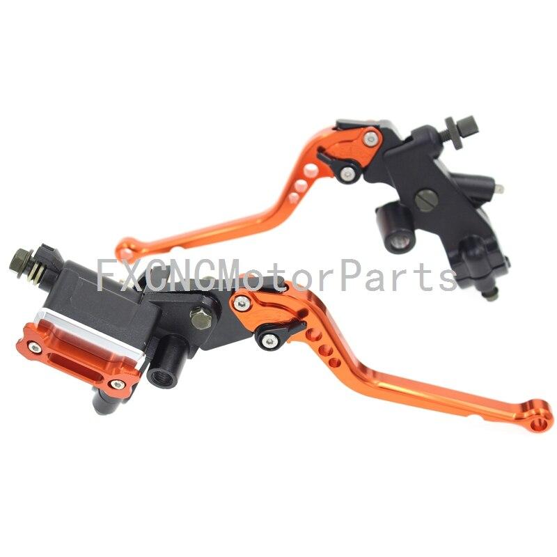For KTM RC125/125 Duke 125-300CC Orange Motorcycle 7/8 22mm Brake Master Cylinder Reservoir Levers Clutch Set 125