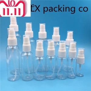 Image 5 - 50 Stuks Gratis Verzending 10 60 100 120 150 Ml Clear Retillable Plastic Spray Parfumflesjes Lege Cosmetische Container Groothandel