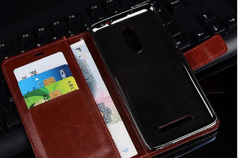 bilder für 50 teile/los freies verschiffen Buch Stil Crazy Horse Linien Leder Brieftasche fall Für Xiaomi Redmi Hinweis 3 Pro SE Special Edition 152mm