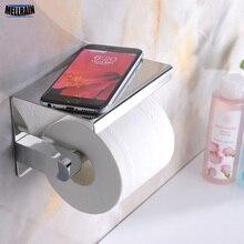 Ванная комната хромированный держатель для туалетной бумаги топ место вещи на платформе из нержавеющей стали зеркало полированный настенный крепеж