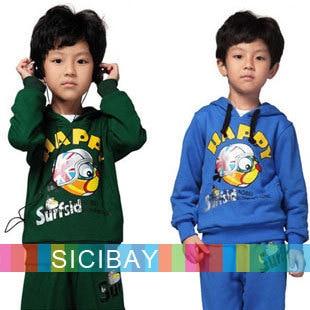 Baby Boy Sets Spring/Autumn Kids Suits Fashion Cartoon Children Clothing Hoodies C0665