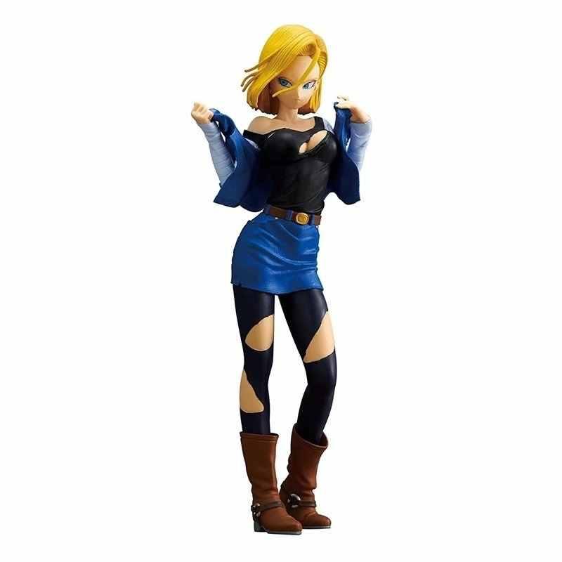 25 cm Dragon Ball Z Android 18 Lazuli sexy Anime PVC Action Figure Nova Coleção figuras de Coleta de brinquedos para o Natal presente