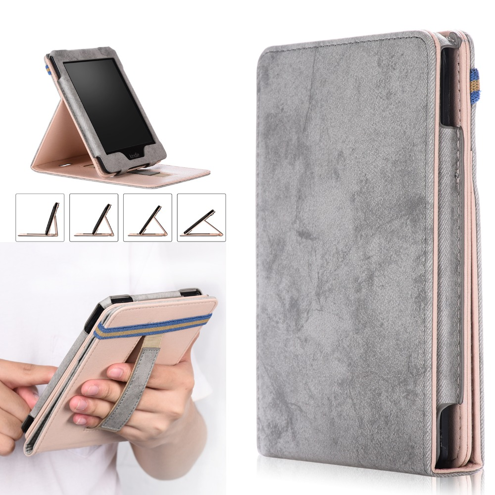 BENCUS 1 2 3 E-book Cover Magnetic PU Leather Smart Case For Kindle Paperwhite