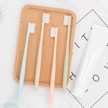 4 шт для взрослых Зубная щётка мягкая Щетинная зубная щетка наконечник Портативный Уход за полостью рта зубов очищающий, отбеливающий щетка