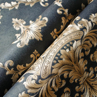 Luxury Thickening Embossed Relief 3D Wallpaper Damascus Living Room TV Backdrop Wallpaper LXY9