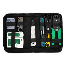 12pc RJ45 RJ11 RJ12 Cable Crimping Tool LAN Network Repair Tool Kit Utp Cable Tester Pressing Line/Tangent Pliers Crimper Clamp