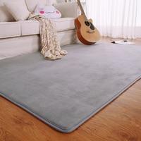 Fashion Flannel Memory Foam Solid Bedroom Living Room Area rug Gray/Red/Coffee Kitchen Floor Mats Carpet Outdoor Doormat 50x80cm