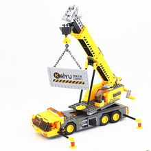380pcs Legoings City Crane Series Building Blocks Toy Kit DIY Educational Children Christmas Birthday Gifts(China)