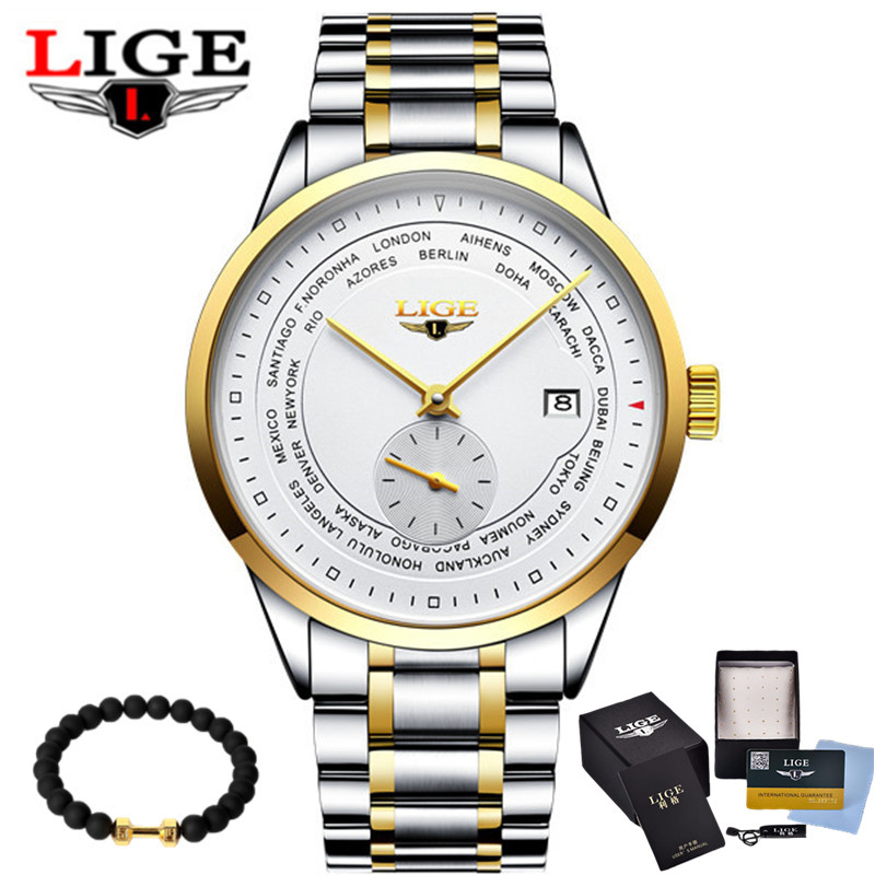 LIGE High Quality Waterproof Tourbillon Men Watches Top Brand Luxury Business Watches Men Automatic Mechanical Wrist Watches