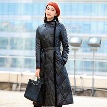 Winter Sheepskin Leather Coats Female Long Thick Sheepskin Down Jacket Women's Mink Fur Coat European American Fashion Coat