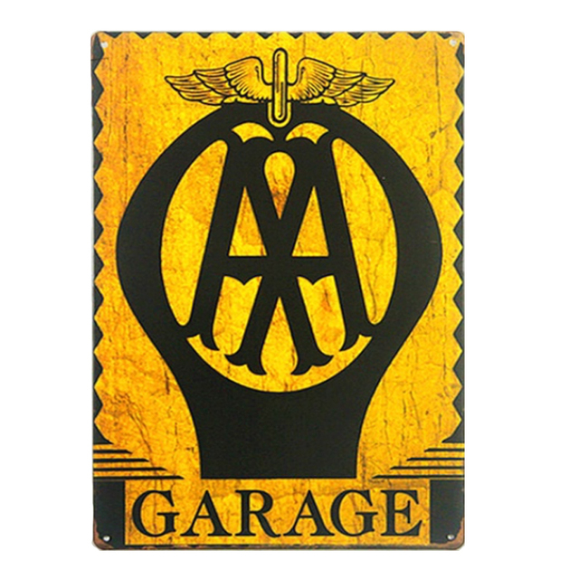 Dad\'s Garage Wall Decor Vintage Metal Sign Home Decoration ...