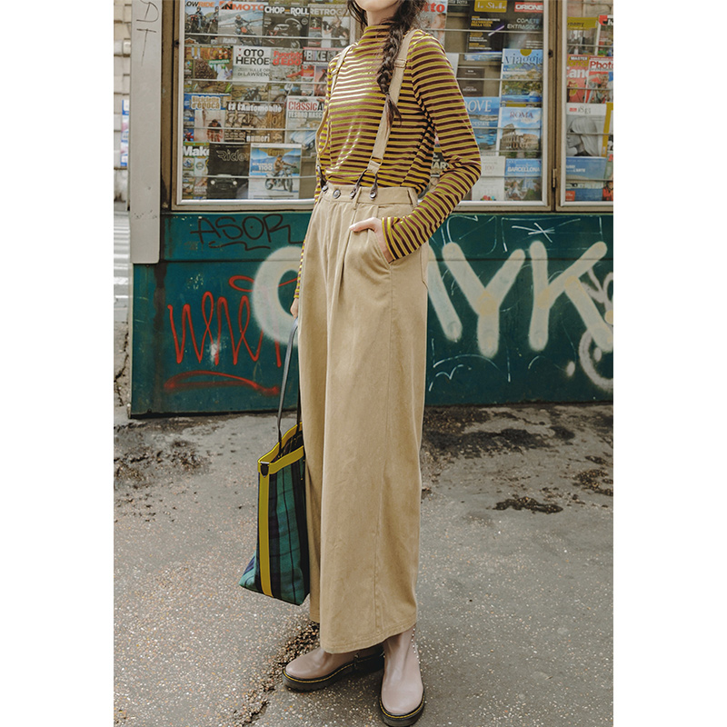 INMAN Spring Autumn Wide Legs All Matched Causal Simple Design Women Overalls