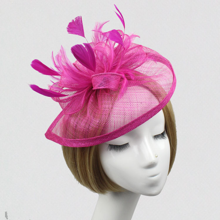 New Feather Hat Women Headpiece Headband Hair Accessories British Hat Hair Clip Great Gatsby EE2202