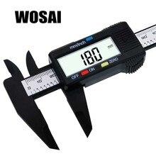 Cheap price WOSAI 6inch LCD Digital 150mm Electronic Carbon Fiber Vernier Caliper Gauge Micrometer