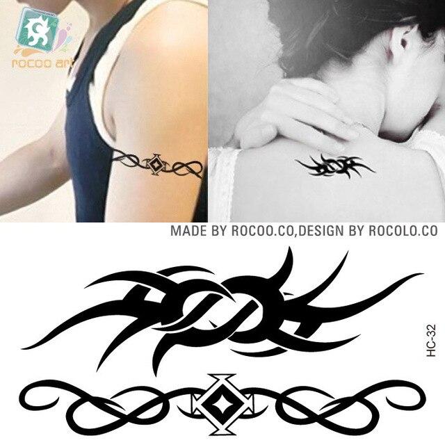 5 pcs waterproof female flower vine neck tattoo stickers small fresh tattoo wholesale custom hc1032