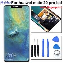 Lcd 6.39 polegadas original para huawei mate 20 pro, display lcd, touch screen, digitalizador, montagem de substituição com impressão digital