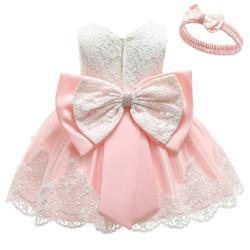 2019 г., платье для маленьких девочек вечерние платья с большим бантом для маленьких девочек, одежда для крещения, платья-пачки для первого дня...