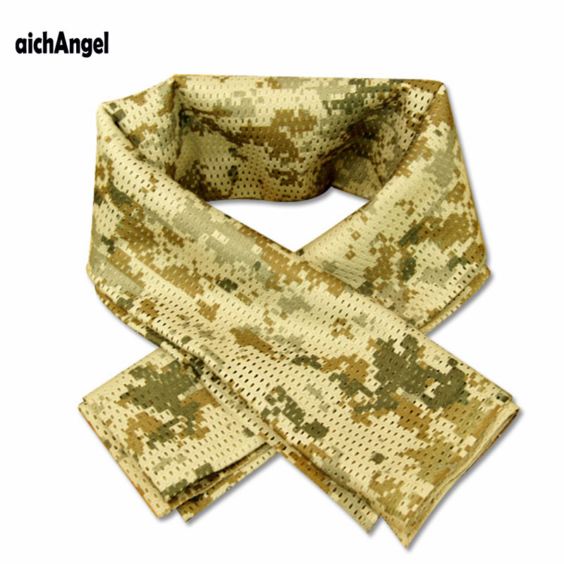 aichAngeI Tactical Military camouflage   Scarf   Cool Airsoft Tactical Multifunctional Army Mesh Breathable   Scarf     Wrap   Mask Veil