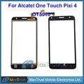 "Top Quality 5.0"" For Alcatel One Touch Pixi 4 OT5010 5010D 5010E 5010G Touch Screen Digitizer Front Panel Sensor Black Color"
